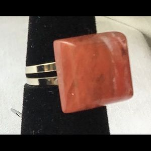 OOAK cherry quartz ring